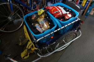 Trailer Loaded with Groceries